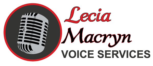 Voice Over, Voice Actor, Narrator, Announcer Lecia Macryn Logo http://www.macryn.com
